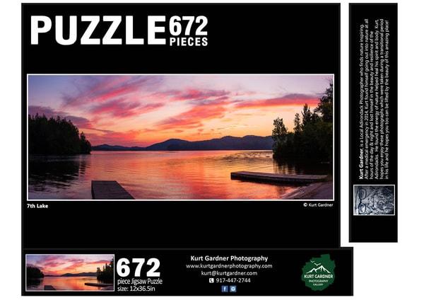 In Stock 7th Lake Panoramic Puzzle | Kurt Gardner Photogarphy