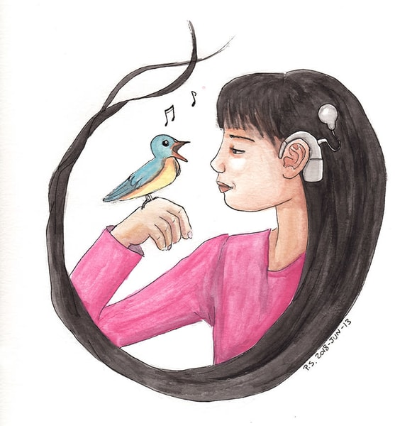 Singing Bird   Original Art   Priscila Soares - MyLuckyEars