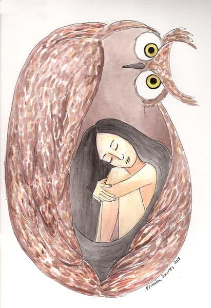 Protector Owl   Original Art   Priscila Soares - MyLuckyEars