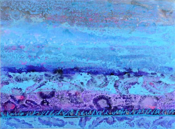Blue Strata Art | Bonnie Carter