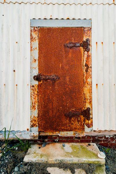 Rusty Iron Door, Fort Worden State Park, Washington, 2015