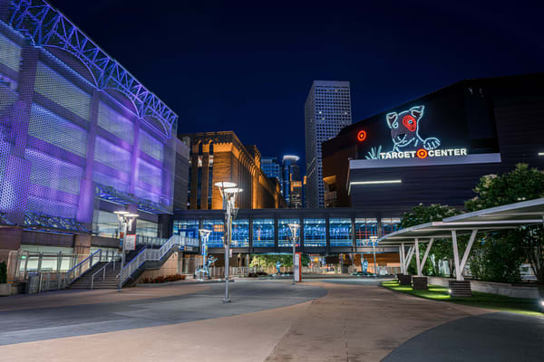 Target Center And The City Photography Art | William Drew Photography