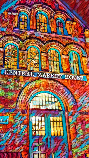 """""""Psychedelic Central Market"""" Photography Art 