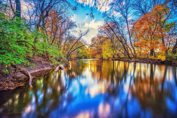 """""""Fall Over Lake Williams"""" Photography Art 