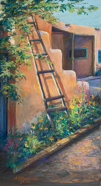 Lindy Cook Severns Art | Climbing Garden, original pastel