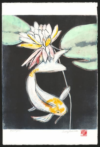 Blackwater Koi - Ghost Print - Audrey Bordvick