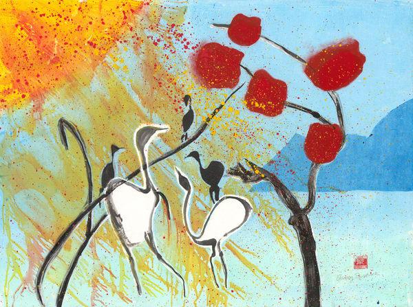Birds Under Northwest Sun - Audrey Bordvick