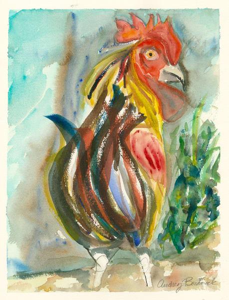 Florida Key West Rooster - Audrey Bordvick