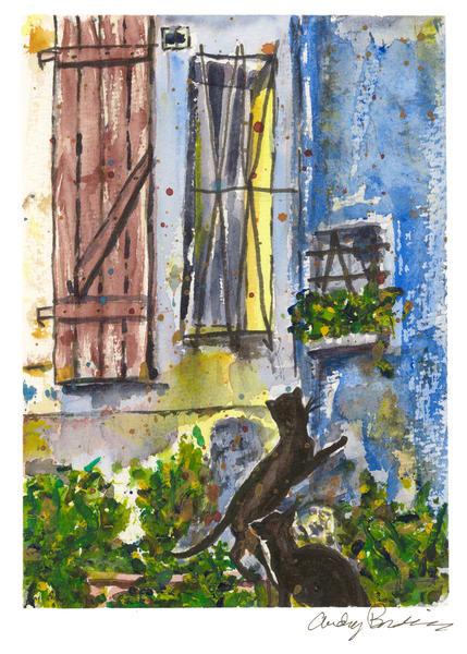 France - The Lock-Keepers Cat - Audrey Bordvick