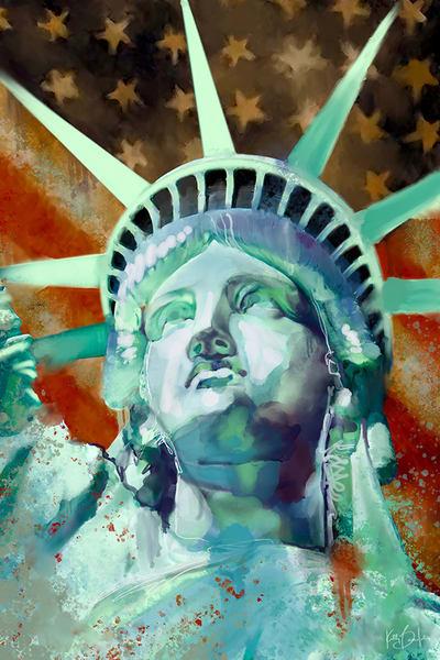 Usa Liberty Ad Photo Art | Kelly Bandalos Studios