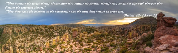 Chiricahua Panorama With Psalms Photography Art | Lion's Gate Photography