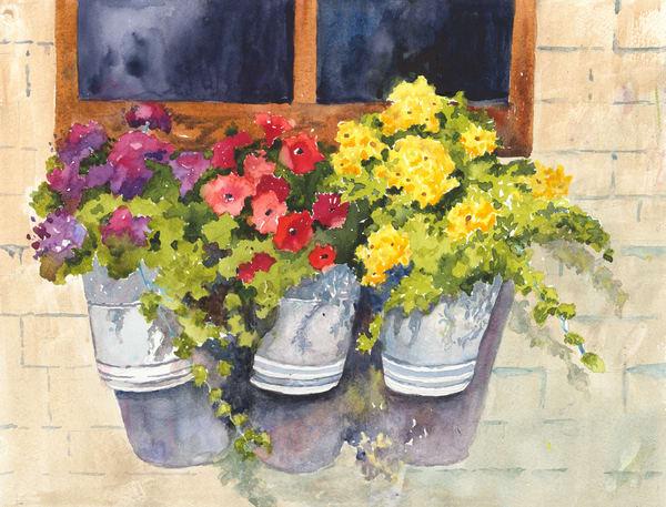 Flower Buckets - Denise Jackson