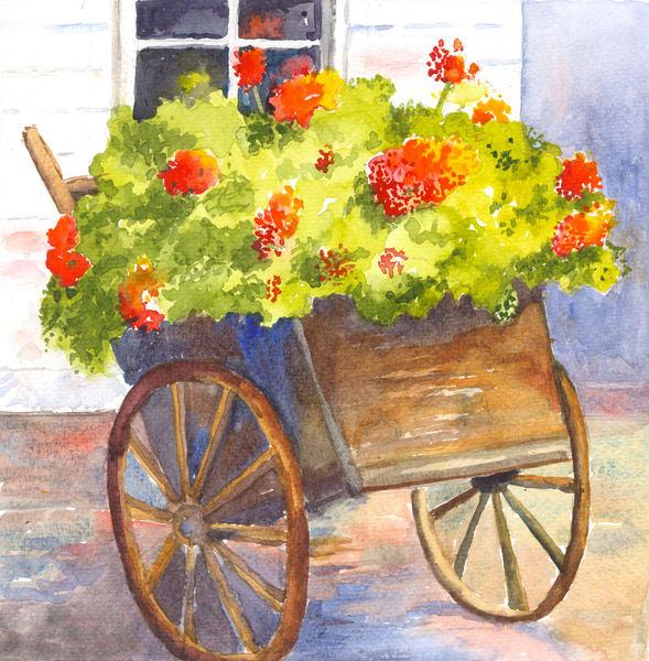 Flower Cart - Denise Jackson