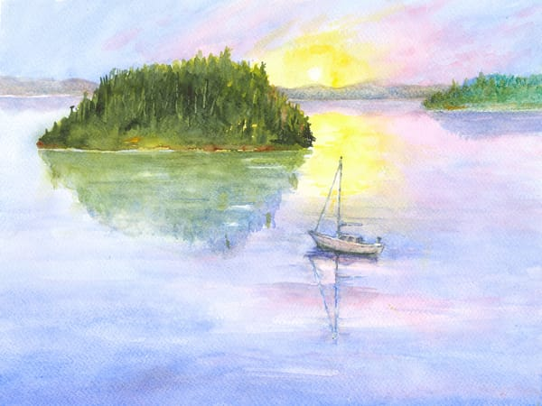 Sailboat and Sunset - Denise Jackson