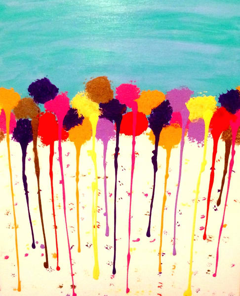 Flower Rain Art   Courtney Einhorn