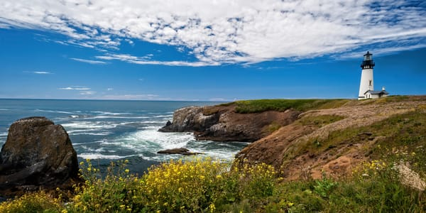 Oregon Coastal Guardian Semi Panorama Photography Art | Ken Smith Gallery