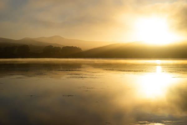 Sunrise Splendor - early morning Sunrise over Tomales Bay, California photograph print