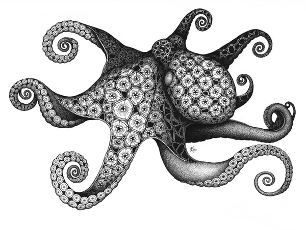 "Octopus | Kristin Moger ""Seriously Fun Art"""