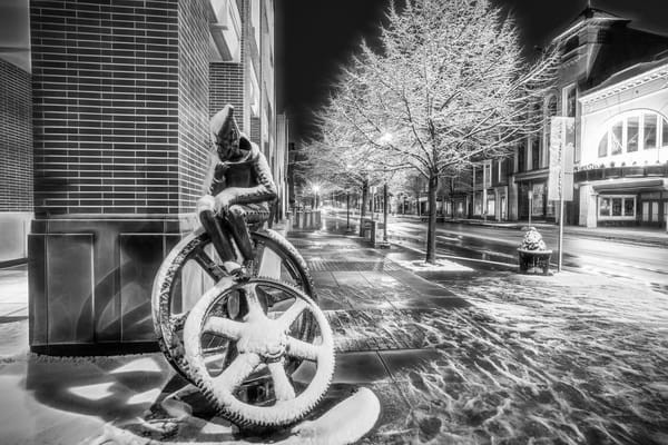 """""""Snow Covered Tin Man"""" Photography Art 