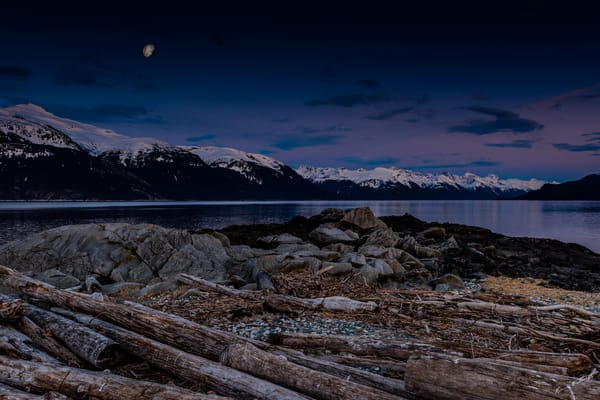 Lynn Canal Moonscape Art | Alaska Wild Bear Photography