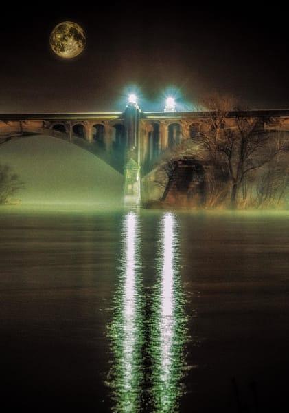 """Midnight Moon Over Wrightsville"" Photography Art   Inspired Imagez"