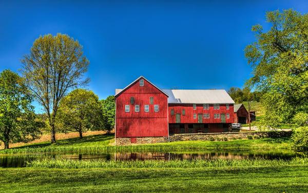 """Red Barn Near Lake Redman"" Photography Art   Inspired Imagez"