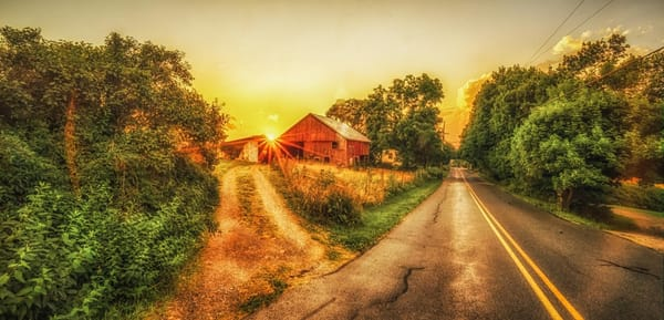 """Red Barn On The Horizon"" Photography Art   Inspired Imagez"