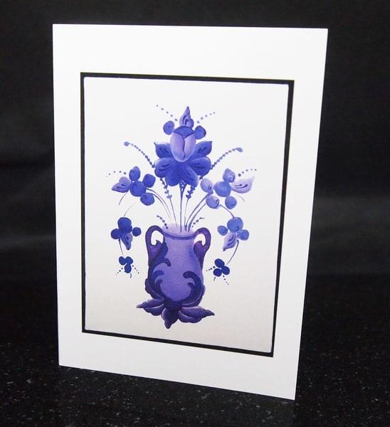 Rosemal Greeting Card Purple
