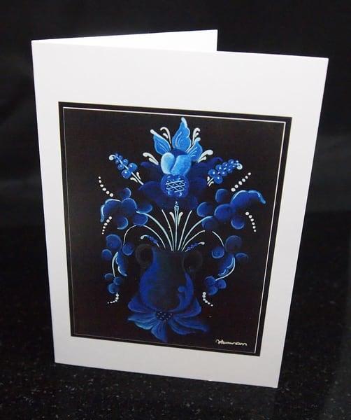 Rosemal Greeting Card Blue
