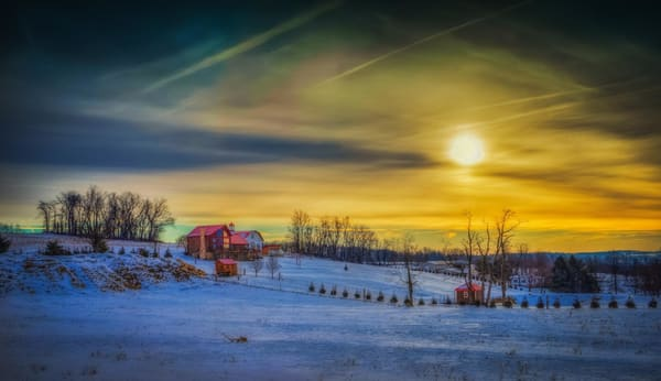 """Winter Dusk"" Wrightsville, Pa Photography Art | Inspired Imagez"