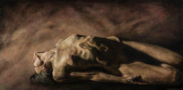 Nude oil painting female figure