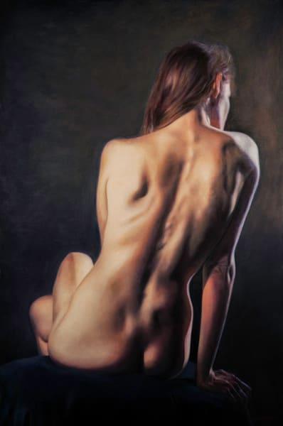 Gentle Terrain, nude, figure, painting