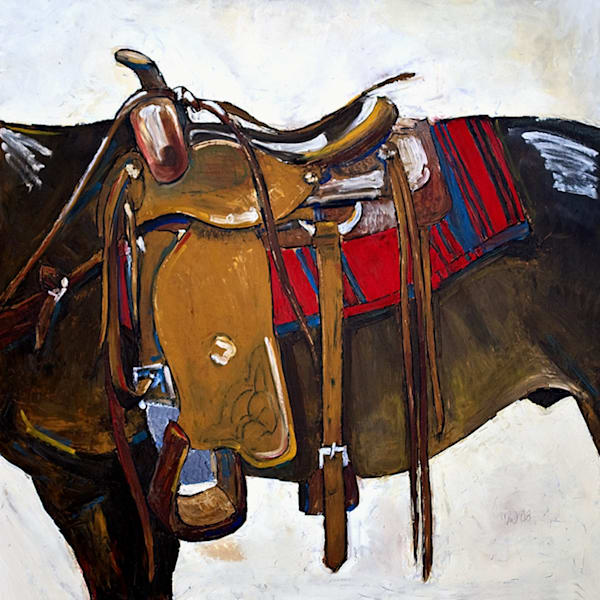Image Under Saddle Art | mwarrenstudio