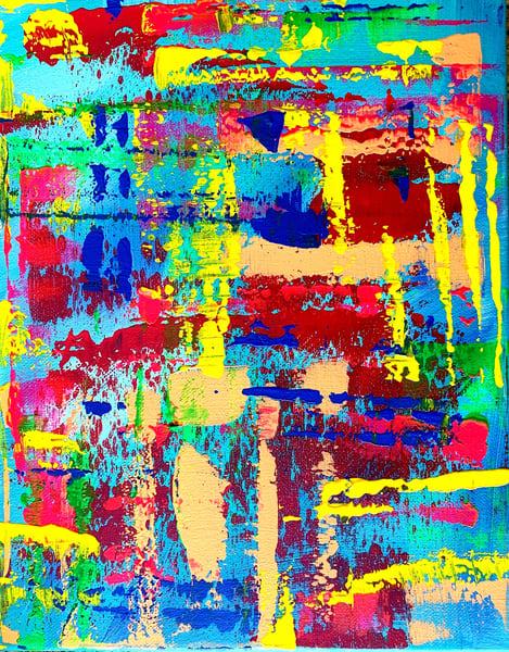 Blue Abstract Art   Courtney Einhorn
