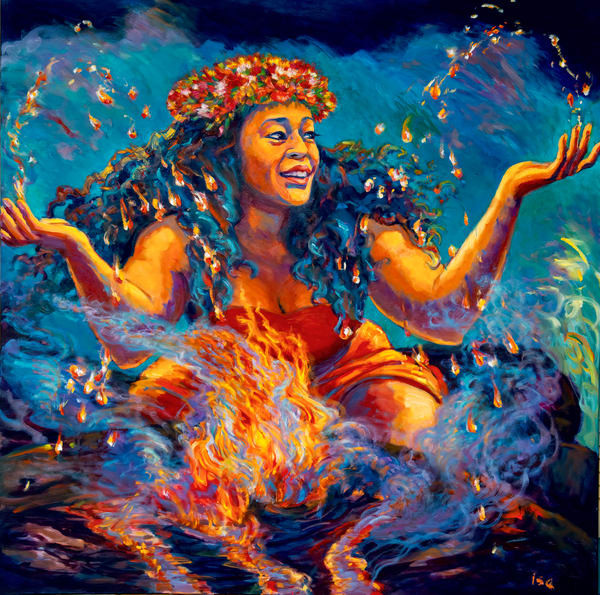 Isa Maria paintings, prints - Hawaii goddess portraits - The Elements