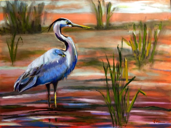Heron At Dusk Art | Rick Osborn Art