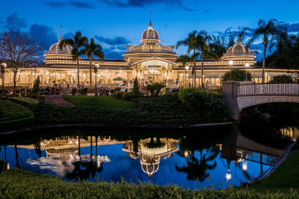 Crystal Palace at Dusk - Disney Photography | William Drew Photography