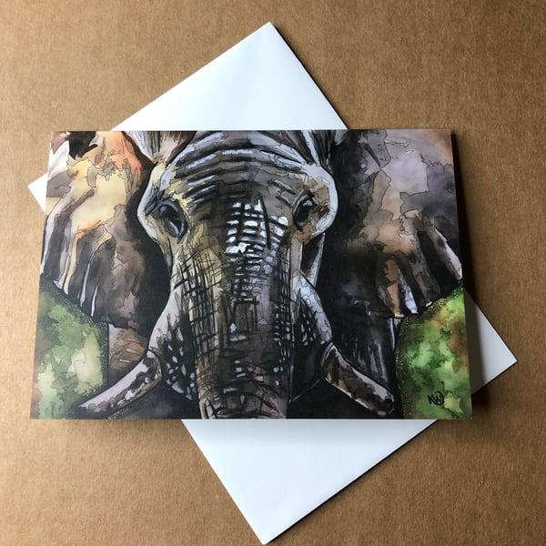 Bull Greeting Card | Water+Ink Studios