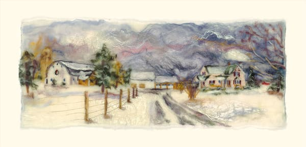 """An Elderberry Winter"" fine art print by Paula Jean Roberts."