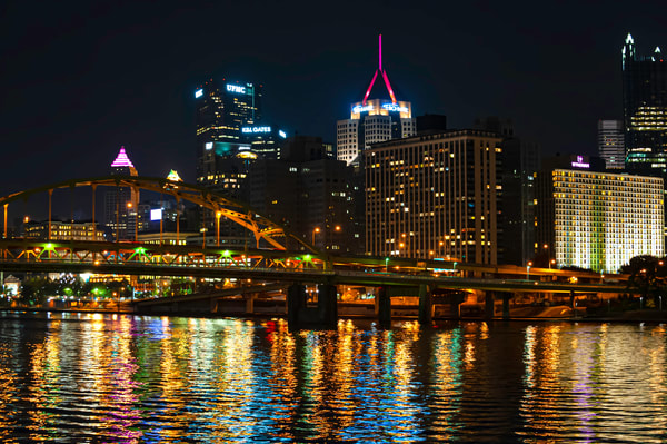 Nightime Pittsburgh Lights