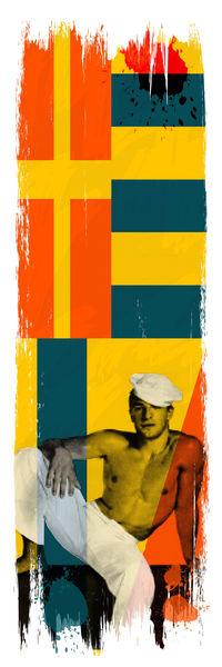 gay art, vintage nautical art, vintage gay art, pop art, gay sailor art