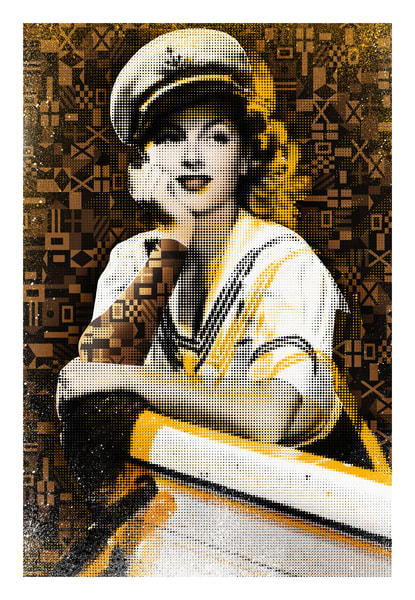 sailor art, nautical wall art, vintage nautical art, nautical pop art, coastal art