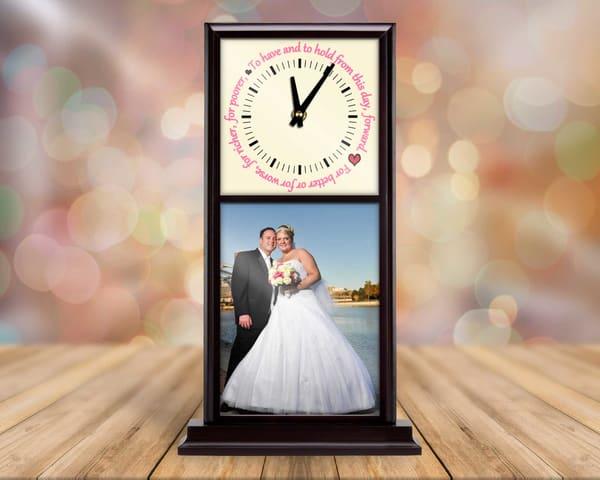 Wedding Memories Mantel Clock
