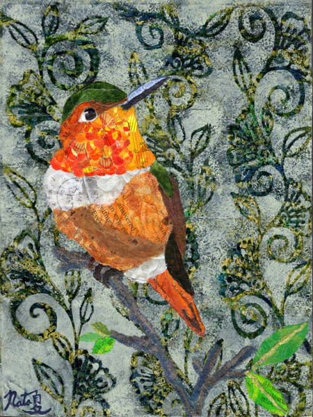 Backyard Birds: Mr. Allen's Hummingbird Art | Poppyfish Studio