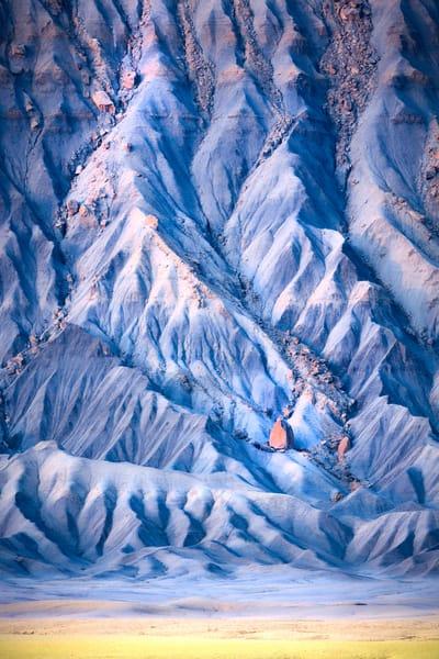 factory butte vertical blue badlands