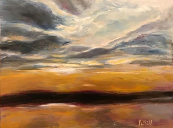 Wetlands Sunset Art   Nosco Fine Art