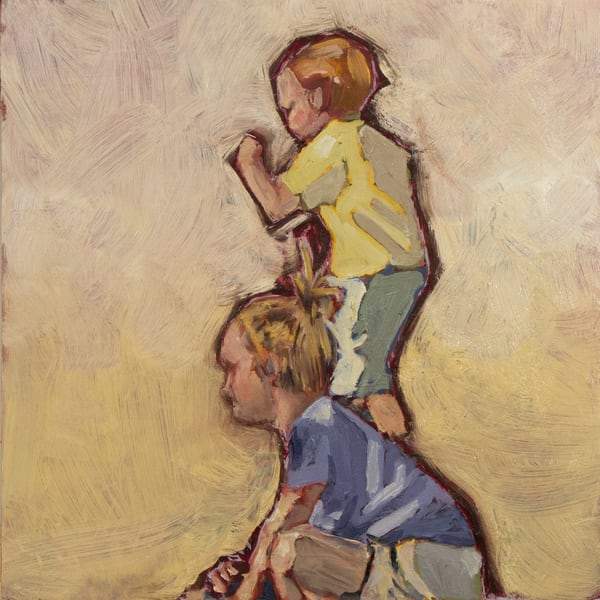 Two Kids Jumping Art | mwarrenstudio