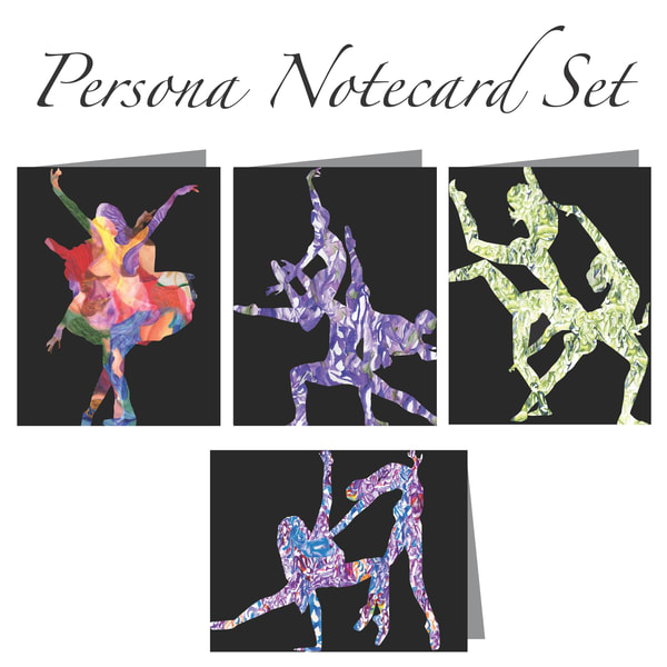 Persona Notecard Set (4 Cards) | Susan Searway Art & Design
