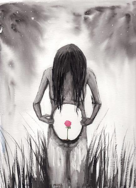Womb Flower   Original Art | Priscila Soares - MyLuckyEars