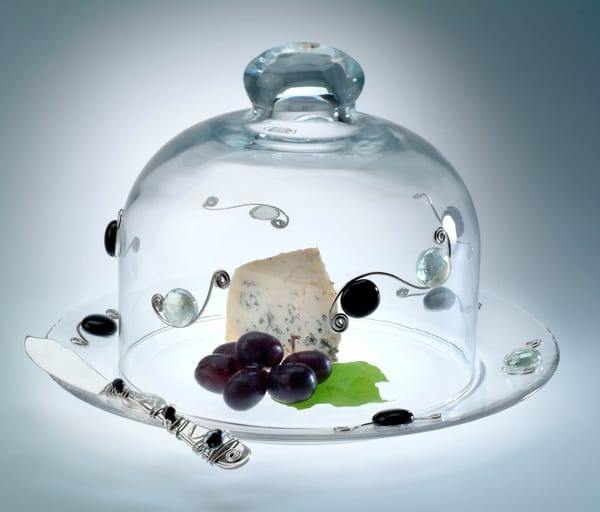 Beaded Food Dome, Plate, And Spreader | Art a la Carte Gallery